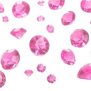Pink Gem Table Diamantes - Assorted