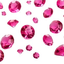 Cerise Pink Gem Table Diamantes - Assorted
