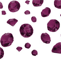 Aubergine Gem Table Diamantes -  Assorted