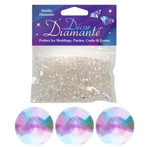 Iridescent Table Diamantes