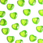 Lime Green Heart Table Diamantes