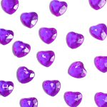 Amethyst Heart Table Diamantes