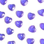 Lavender Heart Table Diamantes