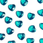 Jade Heart Table Diamantes