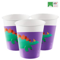 Dinosaur Roar Compostable Paper Cups - 200ml