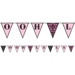 A Day in Paris Fabric Pennant Banner