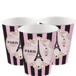 A Day in Paris Cups - 266ml Paper Party Cups