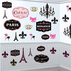 A Day in Paris Mega Value Pack Cutouts - 27cm