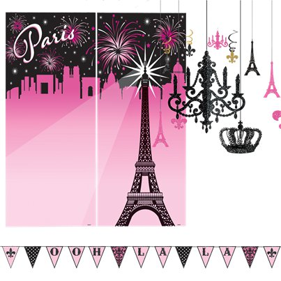A Day in Paris Room Decorating Kit - 19 Pieces