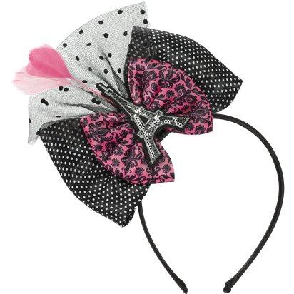 A Day in Paris Bow Deluxe Headband  front