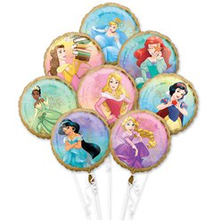 Disney Princess Balloon Bouquet - Assorted Foils