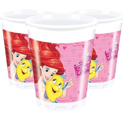 Disney Princess Cups - 200ml Plastic Party Cups