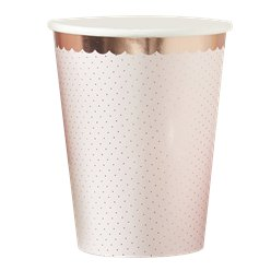 Ditsy Floral Rose Gold Polka Dot Cups
