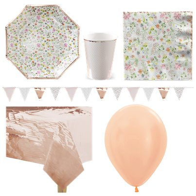 Ditsy Floral Party Pack - Deluxe Pack For 8