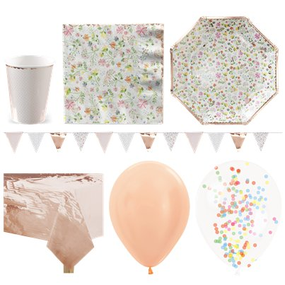 Ditsy Floral Party Pack - Deluxe Pack For 16
