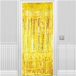 Holographic Gold Foil Curtain - 2.4m