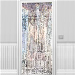 Holographic Silver Foil Curtain - 2.4m