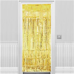 Gold Metallic Fringed Door Curtain - 2.4m