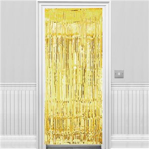 Gold Foil Curtain - 2.4m