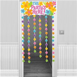 The Party's Here Summer Door Curtain - 1.3m Hawaiian Decoration