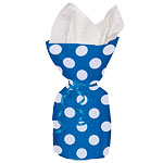 Blue Polka Dots Cello Party Bags