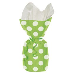 Green Polka Dots Cello Party Bags