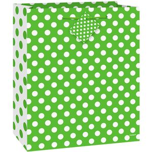 Green Polka Dot Gift Bag - 23cm