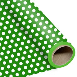 Green Large Polka Dot Wrapping Paper - 1.5m Roll