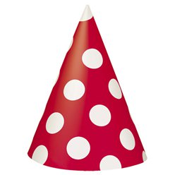 Red Polka Dot Party Hats