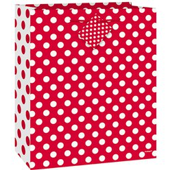 Red Polka Dot Gift Bag - 23cm