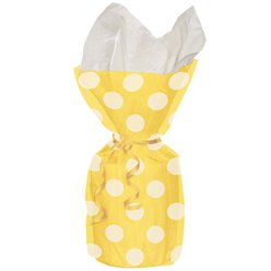 Yellow Polka Dots Cello Party Bags