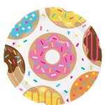 Doughnut Time Plates - 23cm Paper Party Plates
