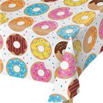 Doughnut Time Plastic Tablecover - 1.4 x 2.6m
