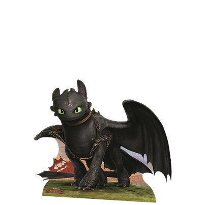 How To Train Your Dragon Toothless Mini Cardboard Cutout - 61cm x 78cm