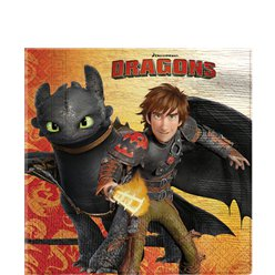 How To Train Your Dragon Lunch Napkins - 33cm