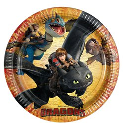 How To Train Your Dragon Paper Plates - 23cm