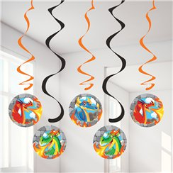 Dragon Hanging Swirl Decorations - 39""