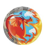 Dragon Dessert Plates - 18cm Paper Party Plates