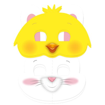 Easter Chick and Bunny Masks Assorted