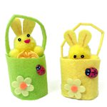 Cute Mini Easter Bunnies In Buckets