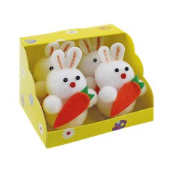 Mini Easter Bunnies with Carrots - 6cm