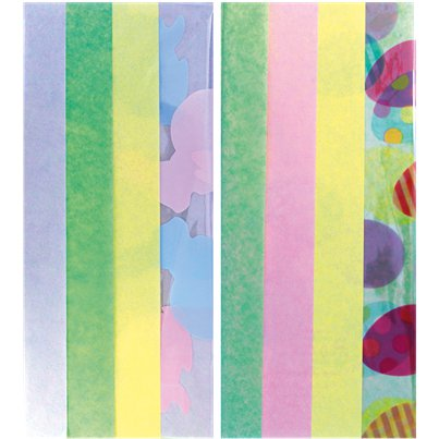 Easter Tissue and Cellophane Wrap - 50x70cm