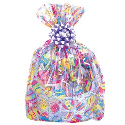 Easter Cello Basket Bag - 61x63cm