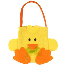 Easter Chick Felt Bag - 17cm x 23cm