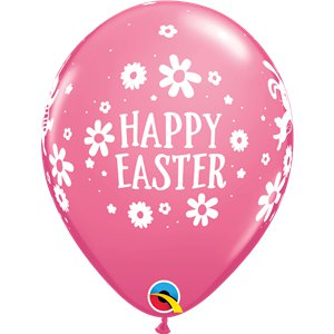 Easter Bunnies & Daisies Multicolour Balloons - 12
