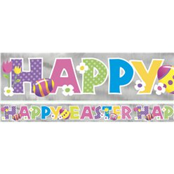 Foil 'Happy Easter' Banner - 2.7m