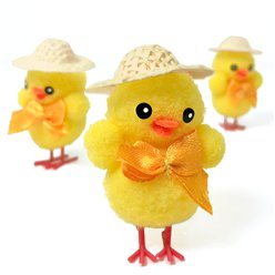Mini Easter Chicks in Hats