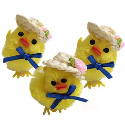 Easter Chicks with Hats - 5cm