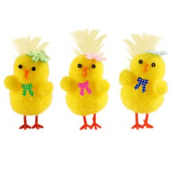Easter Mini Chicks with Accessories - 4cm
