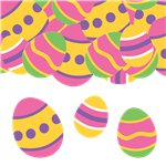 Bright Easter Party Supplies Card Confetti
